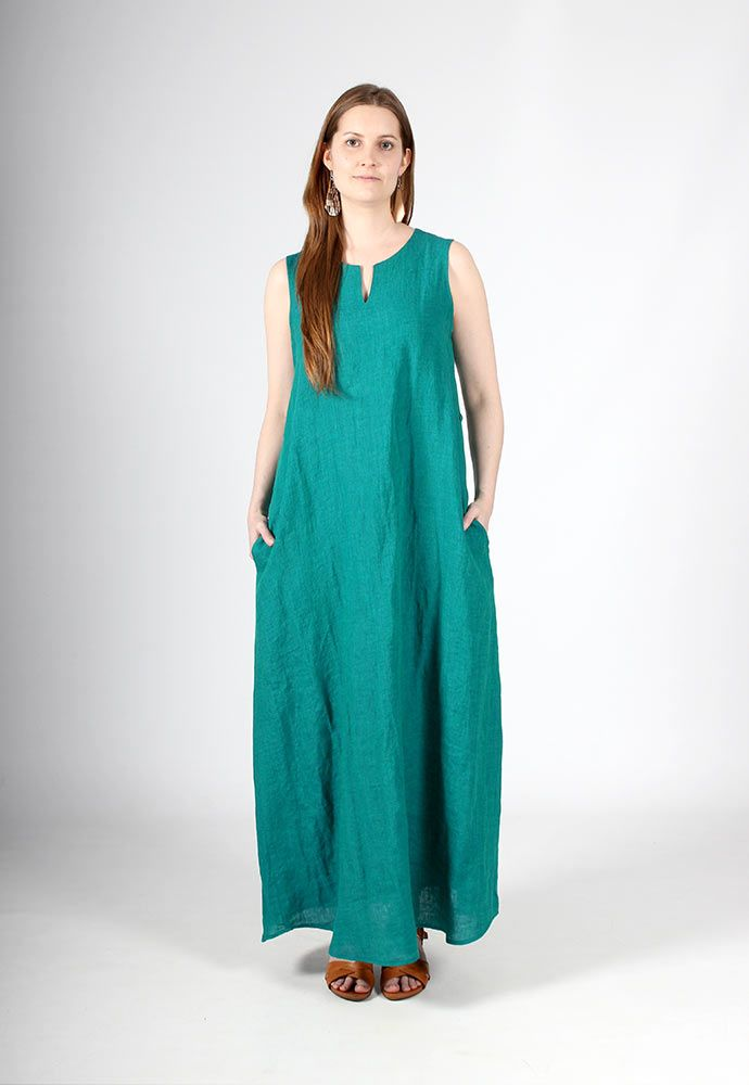 nouki-lookbook-ss16-hay-linen-maxi-dress
