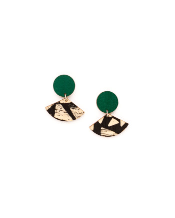 Viuhka-korvikset, vihreä NOUKI
