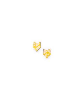 Pikku husky-nappikorvikset, keltainen NOUKI