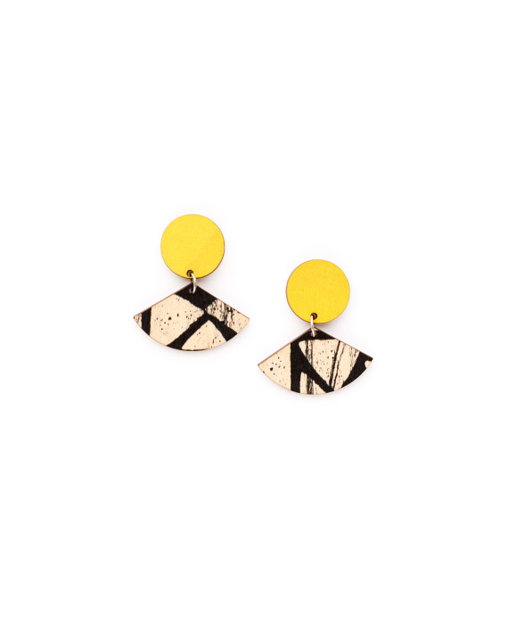 Viuhka-korvikset, keltainen NOUKI