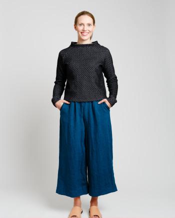 MERI culottes, sininen + KORIA paita, mu-va NOUKISS18 1