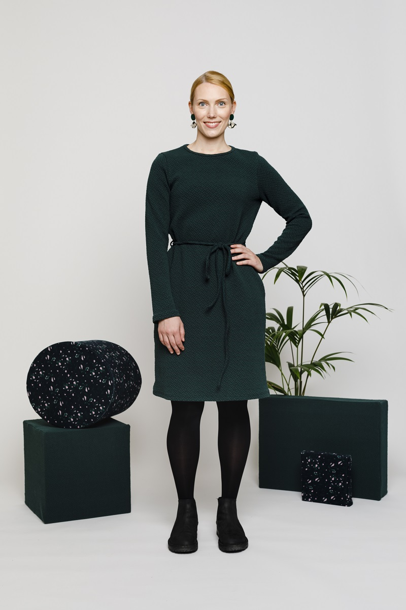 KLASSIKKO mekko vihreä NOUKI AW1819 1