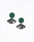 Viuhka-korvikset, metsikkö vihreä